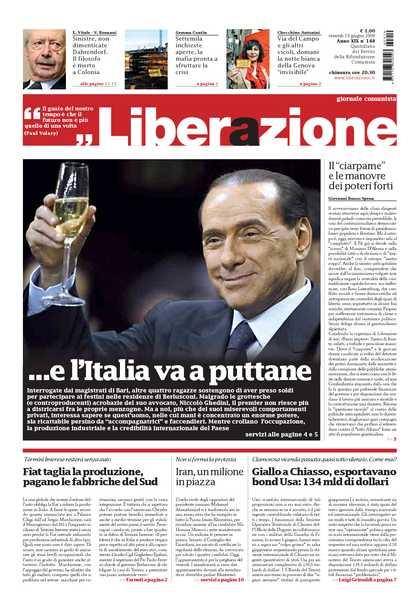Berlusconi L'italia a Puttane